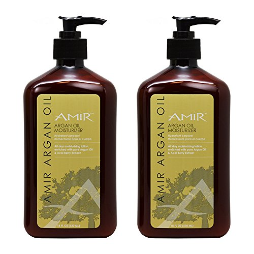 "Amir Argan Oil Moisturizer 18oz""Pack of 2"""