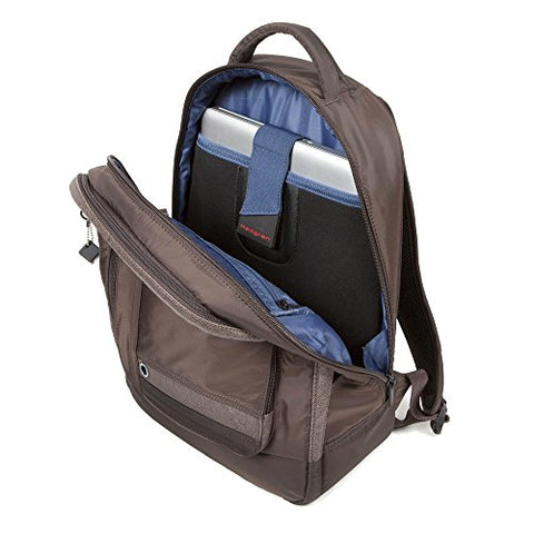 Hedgren Zeppelin Helium Backpack Sepia/Brown - Padded Laptop Bag - Very Durable Backpack - Padded