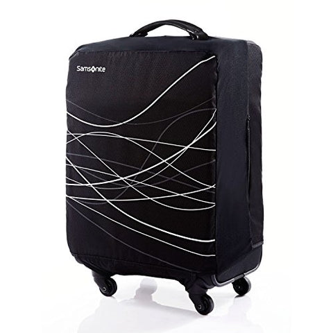 Large Foldable Luggage Cover Black