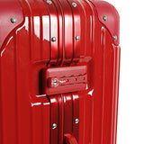 J World New York Nova Hardside 3 Piece Spinner Luggage Set, Red