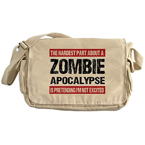 Cafepress - Zombie Apocalypse - The Hardest Part - Unique Messenger Bag, Canvas Courier Bag