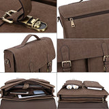 Banuce Mens Faux Leather Briefcase Pu Business Tote Flapover 13 inch Laptop Messenger Satchel Bag