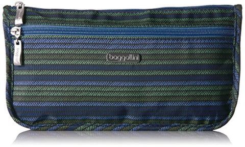 Baggallini Women's Large Wedge Case Coin Purse, Moss Stripe, One Size