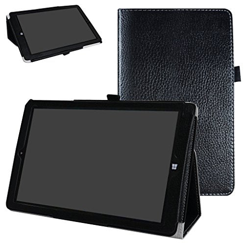 "NuVision Solo 10 Draw TM101W610L Case,Mama Mouth PU Leather Folio 2-folding Stand Cover for 10.0"" NuVision Solo 10 Draw TM101W610L Windows 10 Tablet,Black"