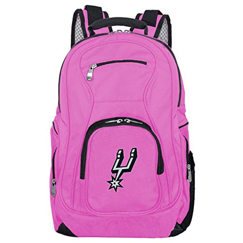 Denco NBA San Antonio Spurs Voyager Laptop Backpack, 19-inches, Pink