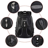 Cross Gear Laptop Backpack with Combination Lock-Fits Most 17.3 Inch Laptops and Tablets CR-9360IBK