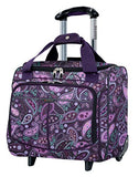 Ricardo Beverly Hills Mar Vista 16-Inch 2 Wheeled Tote, Purple Paisley, One Size