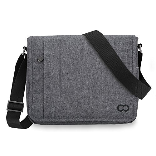 Casecrown Campus Messenger Bag (Charcoal Gray) For Microsoft Surface Pro & Rt