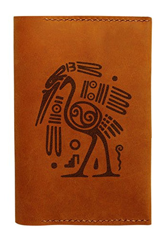 Ancient Mayan Symbol Handmade Genuine Leather Passport Holder Case Hlt_01