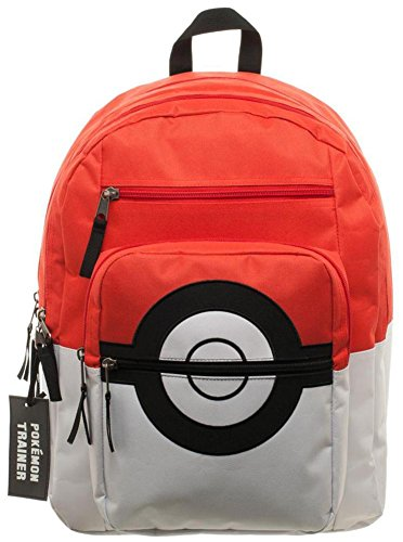 Pokemon Pokeball Backpack with Charm 15 x 18in