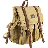 Canyon Outback Urban Edge Cruz 16-Inch Canvas Backpack, Tan, One Size