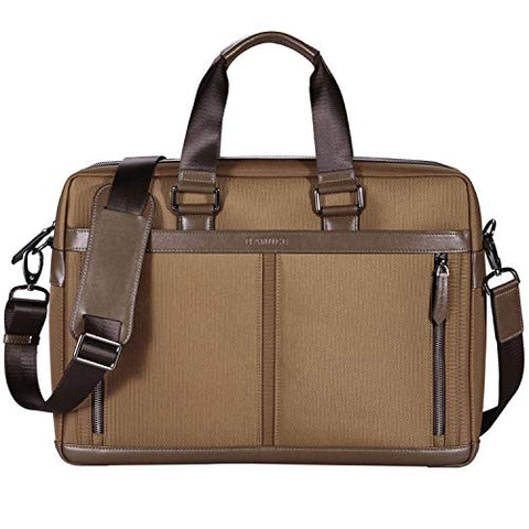 BANUCE 15 Inch Laptop Shoulder Bag Waterproof Nylon Messenger Bag Faux Leather Briefcase for Men
