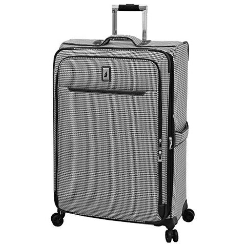 "London Fog Cambridge II 29"" Expandable Spinner, Black White Houndstooth"
