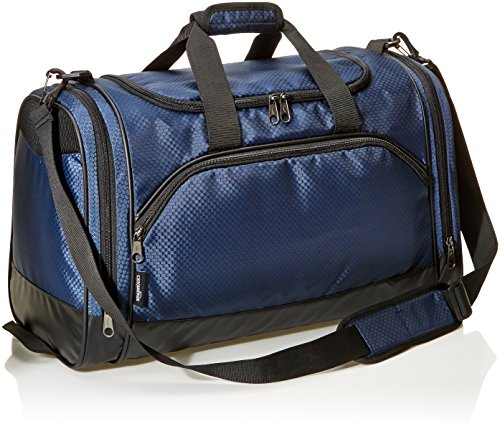 Amazonbasics Sports Duffel - Medium, Navy Blue