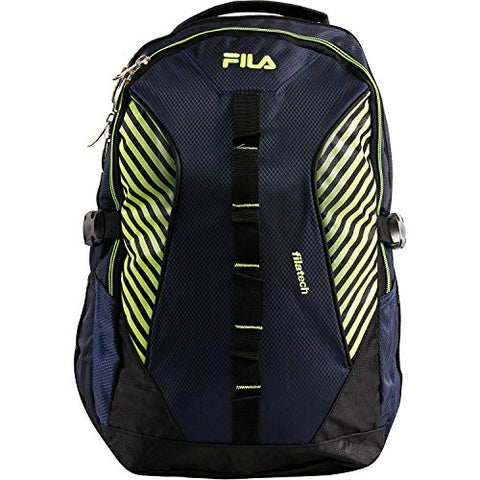 Fila Hunter Laptop Backpack, BLUE/NEON One Size