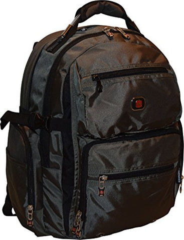 "Swissgear Breaker 16"" Laptop Backpack Travel School Bag Dark Olive"