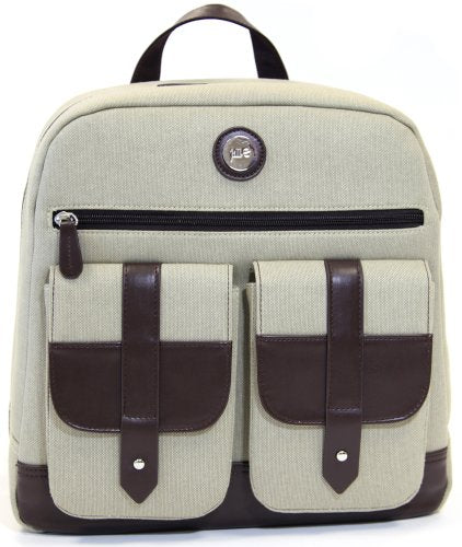 "Jill-e Designs Backpack with 13"" Padded Laptop Pocket for Cameras, Tan (419330)"