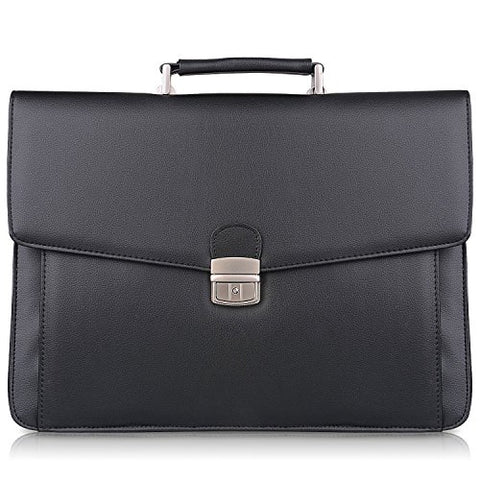 On Sale S-Zone Mens Microfiber Leather Flapover Briefcase Messenger Bag Fit 14 Inch Laptop Bag