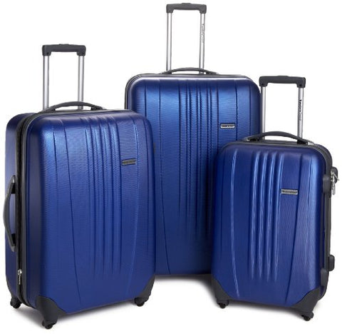 Traveler'S Choice Toronto Hardside Lightweight Expandable Spinner 3-Piece Luggage Set -Navy (