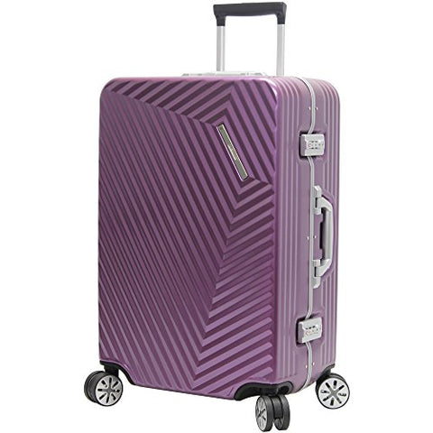 "Andiamo Elegante Aluminum Frame 28"" Large Zipperless Luggage With Spinner Wheels (28in, Quartz)"