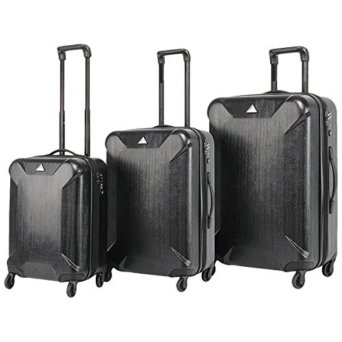 The Set Of Classic Black Triforce Oxford Collection Hardside 3-Piece Spinner Luggage Set