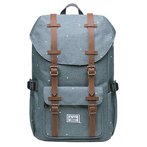"KAUKKO Laptop Outdoor Backpack, Travel Hiking& Camping Rucksack Pack, Casual Large College School Daypack, Shoulder Book Bags Back Fits 13"" Laptop & Tablets Mini Size(7greypoint)"