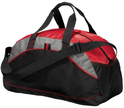 Port & Company - Improved Small Contrast Duffel, Red