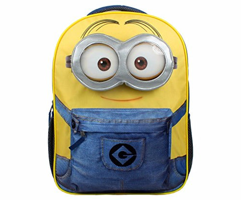 "Licensed Despicable Me Minions Kids 3D Small 12"" School Backpack"