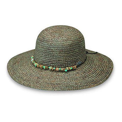 Wallaroo Women'S Sabrina Sun Hat - Upf 50+ - Adjustable Fit (Mushroom)