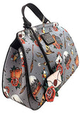 Loungefly x Harry Potter Relics Tattoo All Over Print Crossbody Bag (One Size, Multicolored)