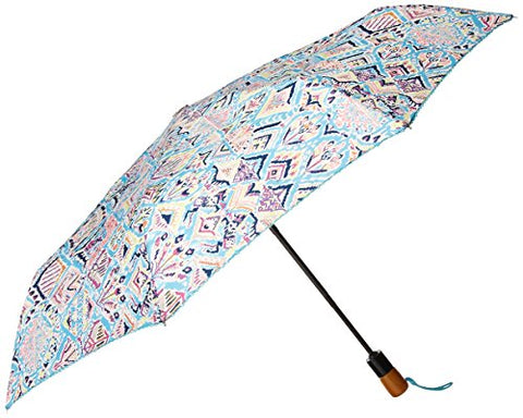 Sakroots Women's Artist Circle Boxed Umbrella, Turq Brave Beauti