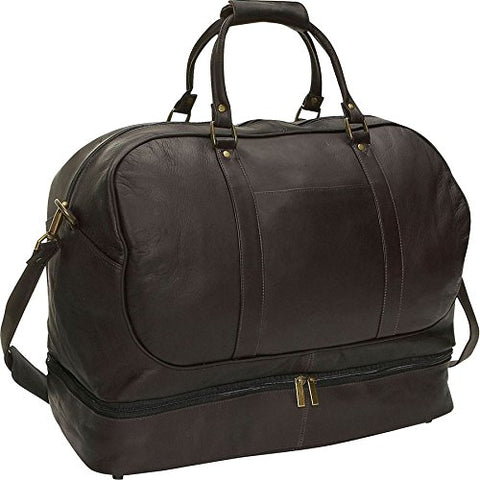 David King & Co. Duffel With Bottom Compartment, Cafe, One Size