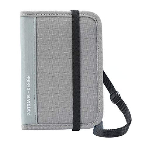 Passport Wallet Holder for Men&Women,RFID Blocking Travel Waterproof Zipper Credit Card Money Storage Bag Multifunctional Family Cellphone Boarding Passes Organizer with Crossbody Belt (Gray)