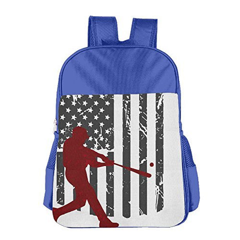 Gibberkids Children Baseball American USA Flag School Bags Bookbag Boys/Girls For 4-15 Years Old