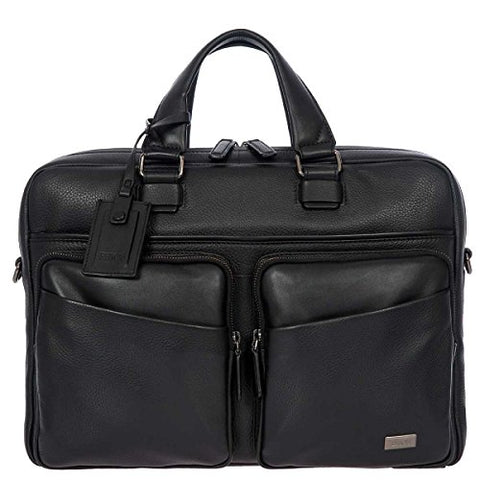 Bric's Torino Leather Laptop|Tablet Business Briefcase, Black One Size