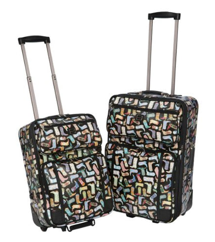 Sydney Love Kickin' It 2 Piece Luggage Set 12785 Weekender,Multi,One Size