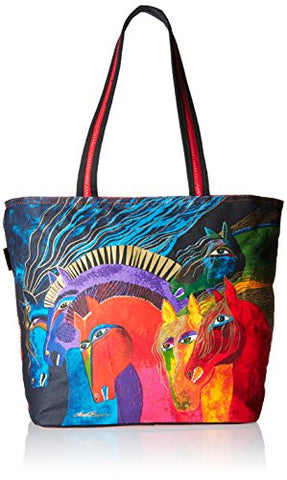 Wild Horses of Fire Laurel Burch Large Canvas Travel Tote Overnight Bag
