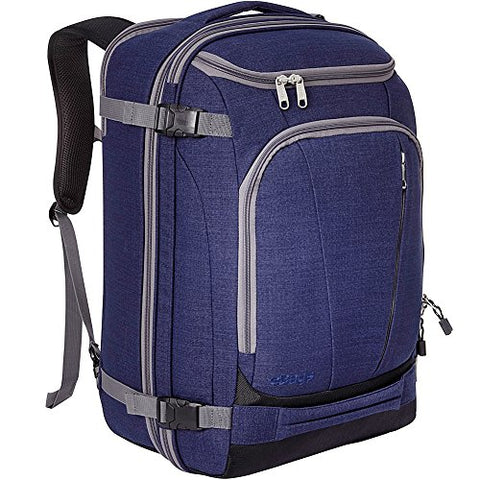 "eBags TLS Mother Lode Weekender Convertible Carry-On Travel Backpack - Fits 19"" Laptop - (Brushed Indigo)"