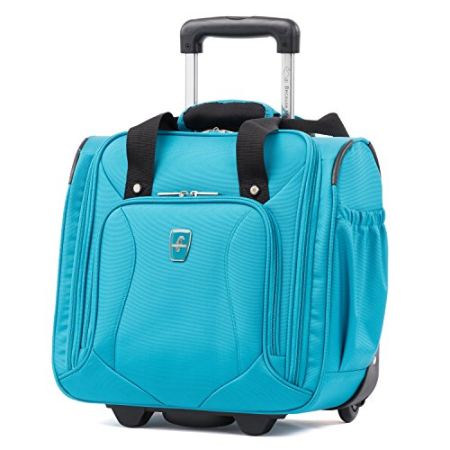Atlantic Ultra Lite Softsides Rolling Underseat Carry-on, Turquoise Blue