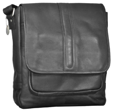 David King & Co. Laptop Messenger With Front Gusset Pocket, Black, One Size