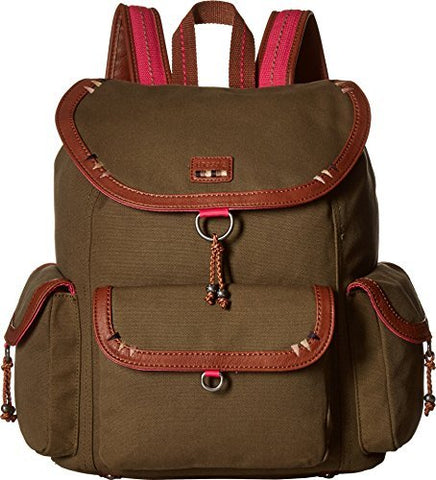 The Sak Women's Pacifica Backpack Olive Patch 1 One Size