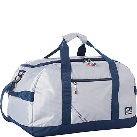 SailorBags Silver Spinnaker Racer Duffel (Silver with Blue Trim)