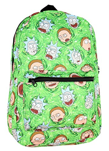 RIck and Morty Portal All Over print Backpack