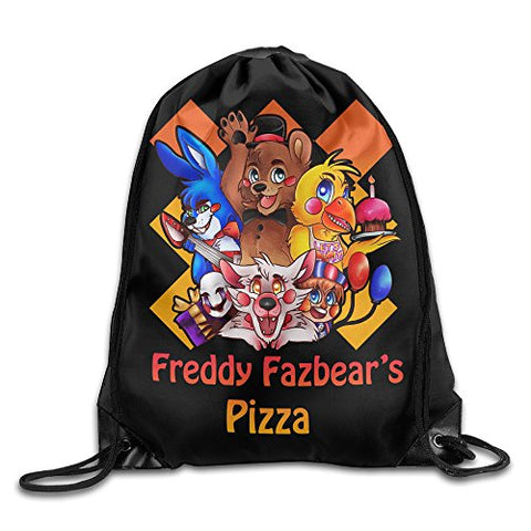 Five Nights At Freddys Pizza Drawstring Backpack Cinch Bag