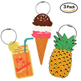 Unique Luggage Tag [3 Pack] Travel Pineapple Ice Cream Drink Bag Identify Label