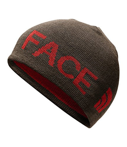 The North Face Unisex Reversible Banner Beanie Bracken Brown/Rage Red One Size