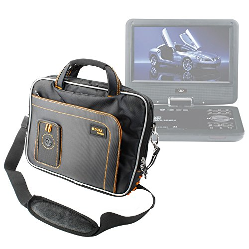 "DURAGADGET ""Travel"" Professional Quality Lightweight & Tough 15.6"" Laptop Briefcase Carry Case With Padded Shoulder Strap & Multiple Compartments For Bush 7 Inch Portable DVD Player"