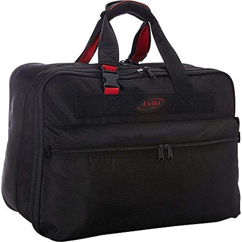 "A.Saks 21"" Double Expandable Ballistic Nylon Soft Carry-On in Black"