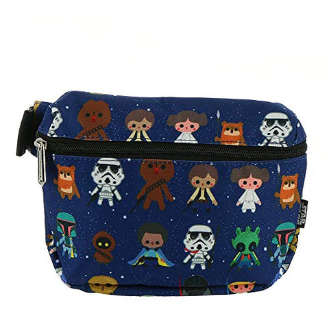 Loungefly Star Wars Chibi Print Fanny Pack, Blue-multi