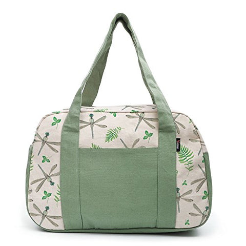 Women'S Watercolor Dragonfly Pattern-1 Printed Canvas Duffel Travel Bags Was_19